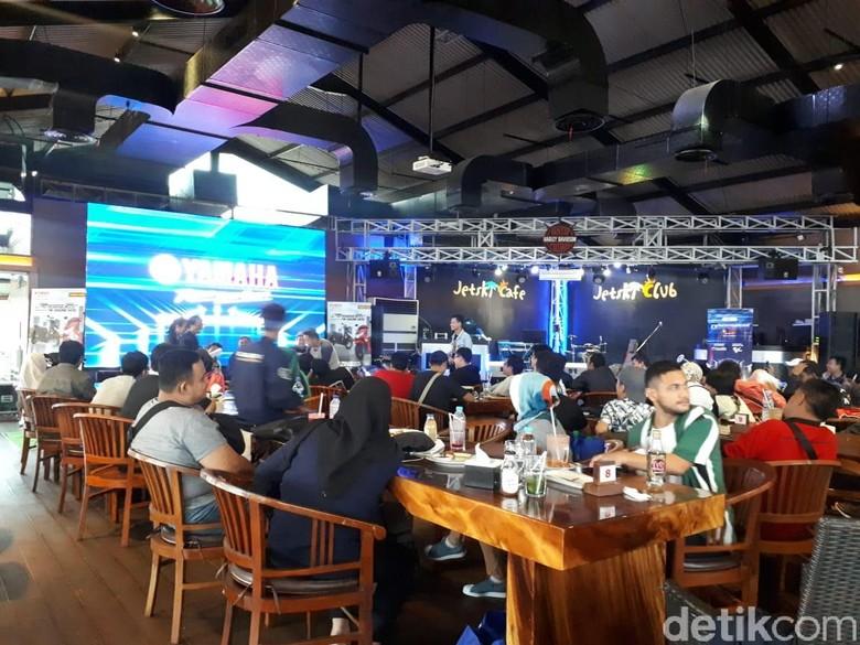 Nobar MotoGP sambil bedah Yamaha Freego dengan detikcom. Foto: Mercy Raya/detikSport
