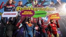 Batman, Superman, Spiderman dan Iron Man Deklarasi Tolak Kerusuhan