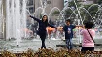 Potret Ramainya CFD Sudirman-Thamrin Usai Libur Lebaran