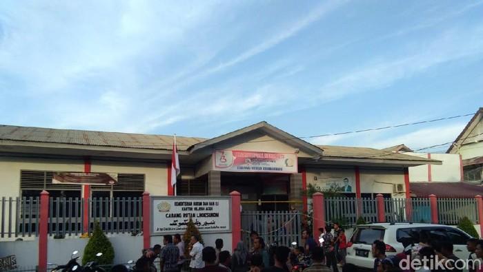 Foto: Rutan Lhoksukon Pasca-kerusuhan (Datuk-detikcom)