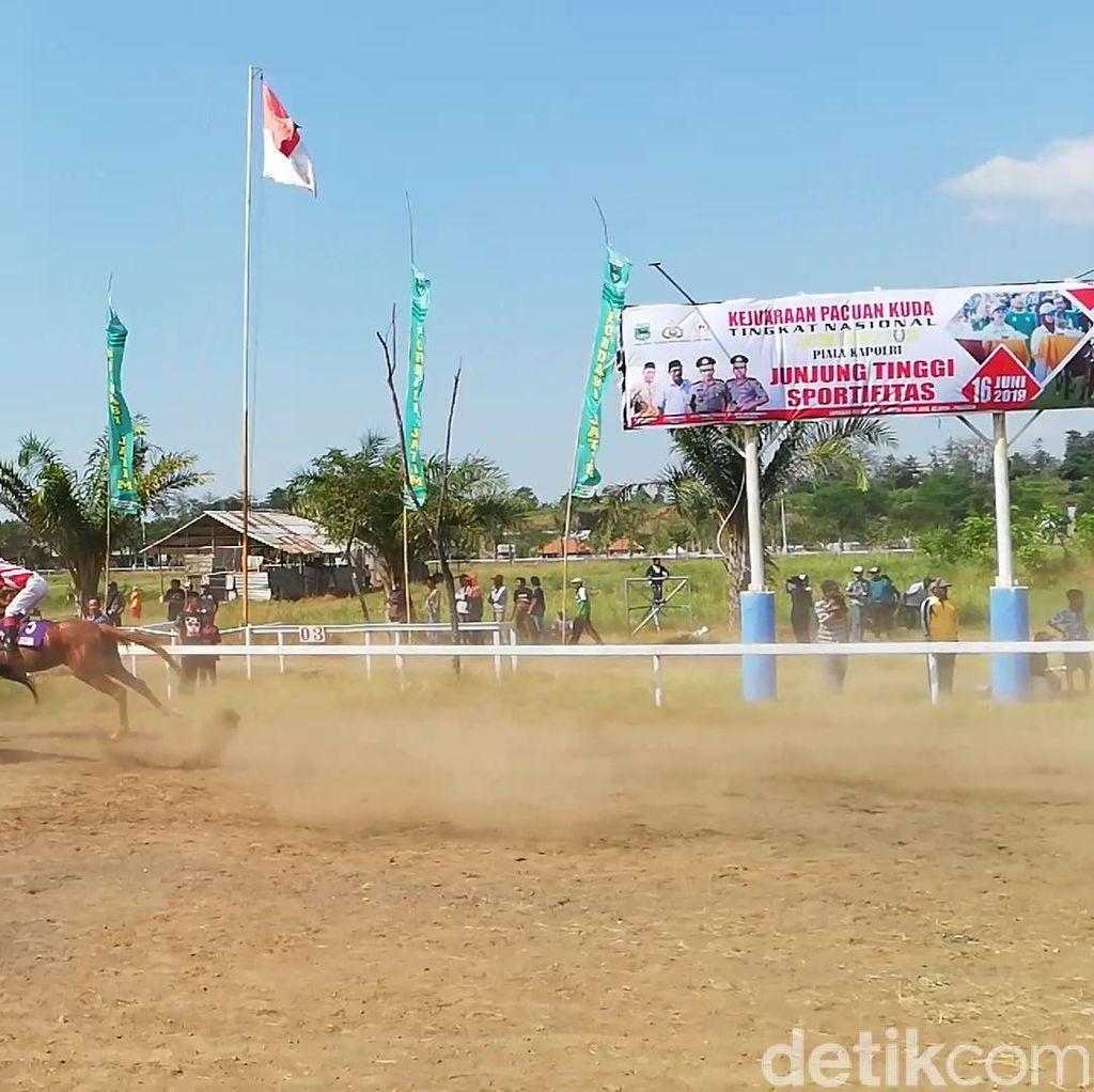 Pacuan Kuda Piala Kapolri Digelar di Pasuruan, Kuda Sidoarjo Jadi Jawara