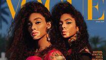 Pertamakalinya 2 Model dengan Kulit Belang Jadi Sampul Majalah Vogue Arab
