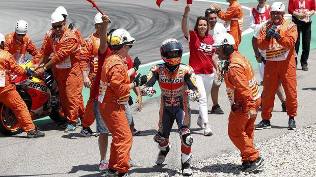 Marc Marquez seharusnya sudah unggul lebih jauh bila tak melakukan kesalahan fatal di MotoGP Amerika Serikat.