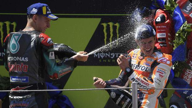 Fabio Quartararo merasakan podium di MotoGP Catalunya.