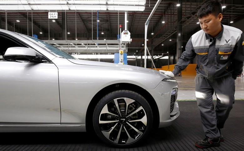 Pabrik VinFast Foto: Kham/Reuters
