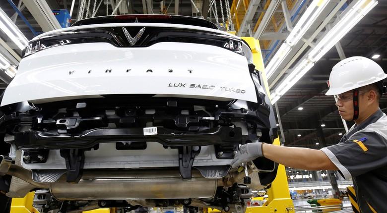 Produksi mobil nasional Vietnam. Foto: Kham/Reuters