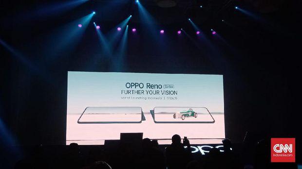 Persiapan acara peluncuran OPPO seri Reno.