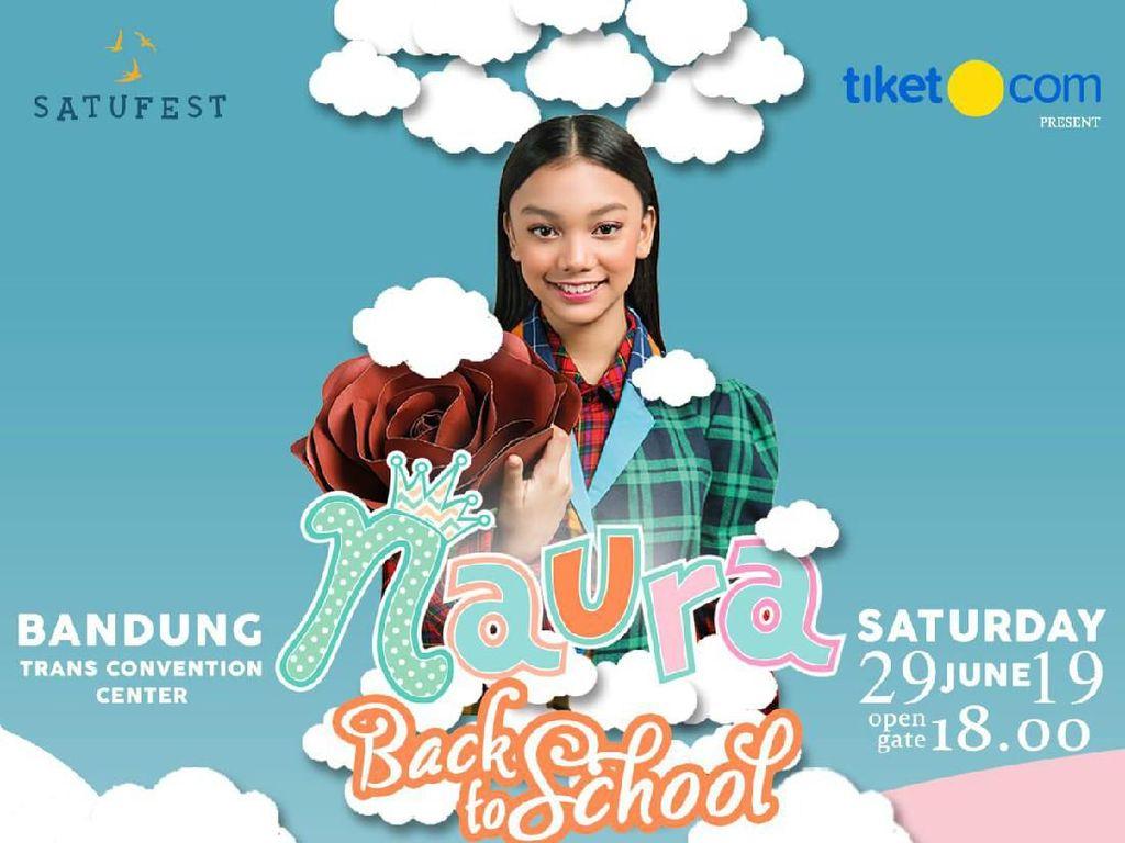 Sambut Momen Back To School, Naura Gelar Konser di Bandung
