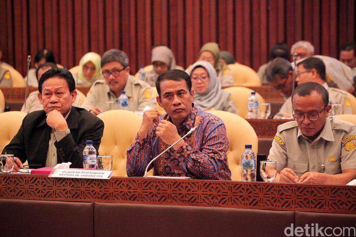 Mentan Amran Sulaiman dan DPR Bahas Anggaran 2020/Foto: Lamhot Aritonang