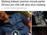 Polisi Selidiki Tarif Parkir Bus di Alun-alun Kota Malang yang Viral