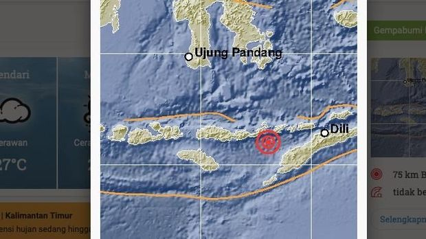 Gempa Magnitudo 5,6 Guncang Lembata