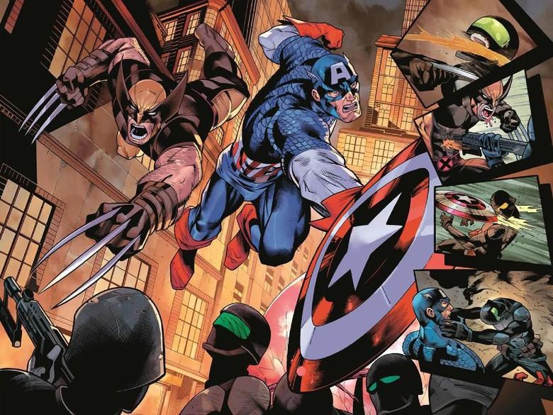 Ada Rahasia Apa Antara Wolverine dan Captain America Versi Komik? Foto: Istimewa