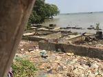 Bukti-bukti Keganasan Abrasi di Ujung Bekasi