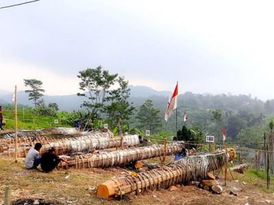 Adu Meriam Karbit yang Seru di Bogor Usai Lebaran