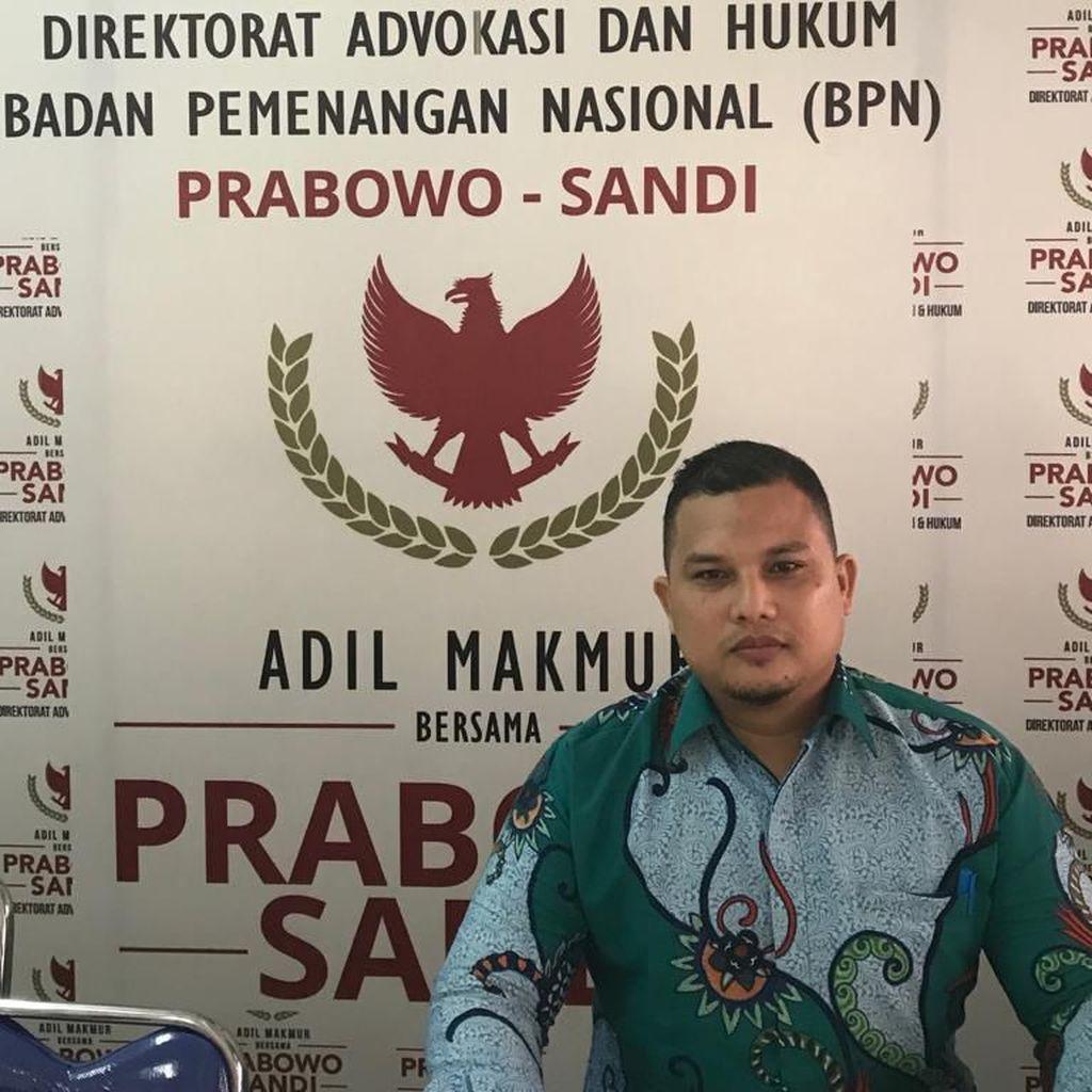 Rahmadsyah Saksi 02 Ditahan, BPN Prabowo Hormati Keputusan Hakim