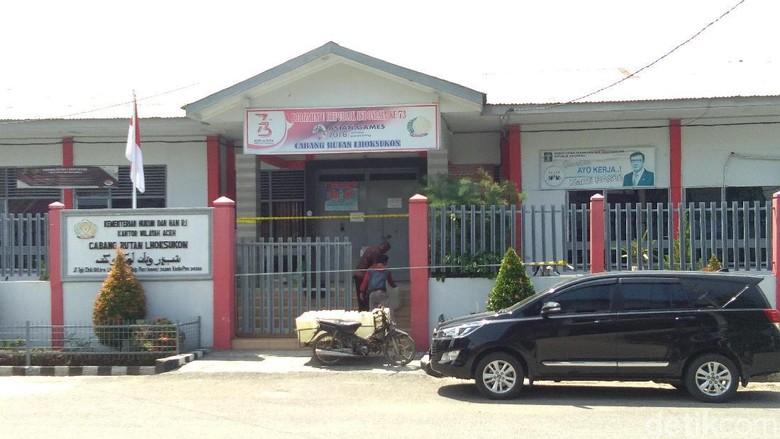 Overkapasitas Jadi Sebab Napi di Rutan Lhoksukon Aceh Ricuh dan Kabur