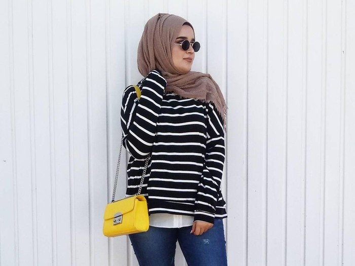 Tren hijab crinkle. Foto: Instagram @helaada