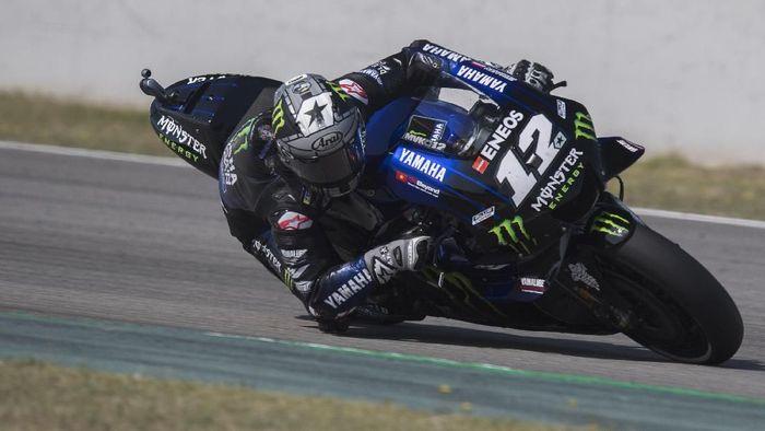 Maverick Vinales kecewa Jorge Lorenzo tak mendapat sanksi terkait insiden di MotoGP Catalunya (Foto: Mirco Lazzari gp/Getty Images)