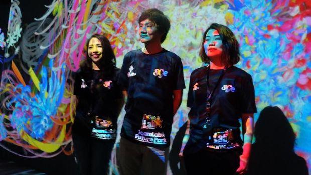 Serunya Menggambar hingga Main Perosotan 'Nyeni' di 'teamLab Future Park'