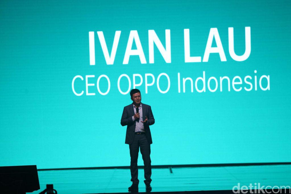 CEO Oppo Indonesia Ivan Lau membuka acara peluncuran. Foto: Rifkianto Nugroho/detikINET