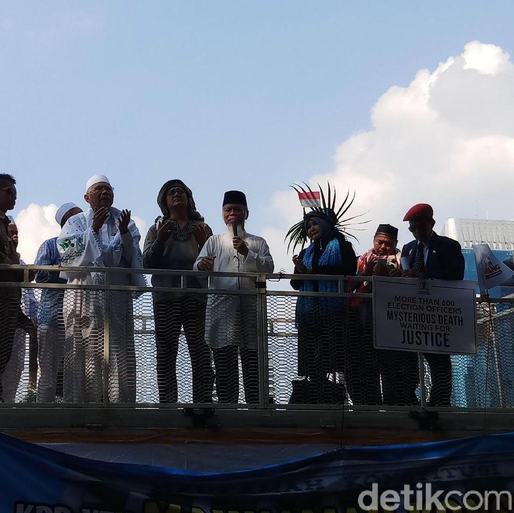 Orasi di Aksi Kawal MK, Abdullah Hehamahua Minta Hakim Putus dengan Jujur