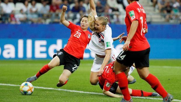 Norwegia mendapatkan perlawanan sengit dari Korea Selatan.