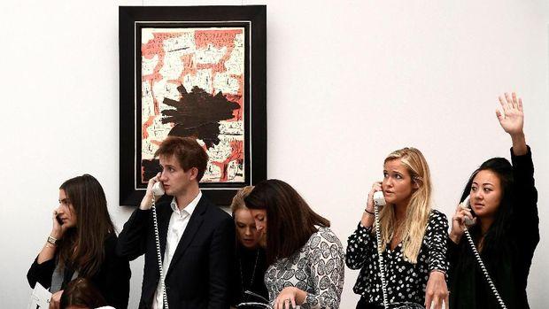 Suasana pelelangan di Sotheby's