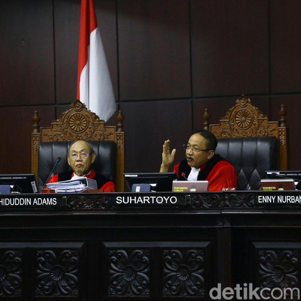 MK Tolak Permintaan BW soal Saksi Tak Dibatasi