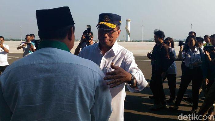 Menteri Perhubungan Budi Karya Sumadi di Bandara Kertajati/Foto: Puti Aini Yasmin