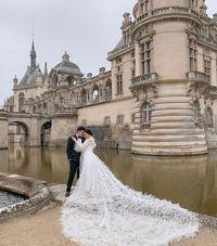 Foto pre-wedding Amanda dan Kelvin Sebastian.