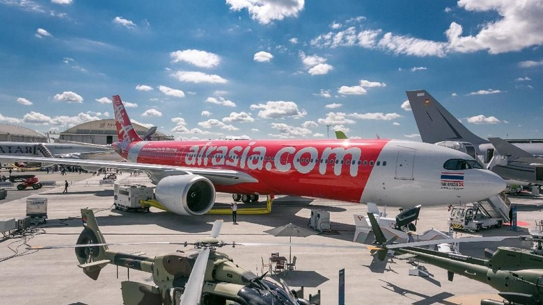 Ilustrasi pesawat AirAsia (AirAsia)