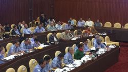 Rapat di DPR, Susi Ditemani Full Team Pejabat Eselon I KKP