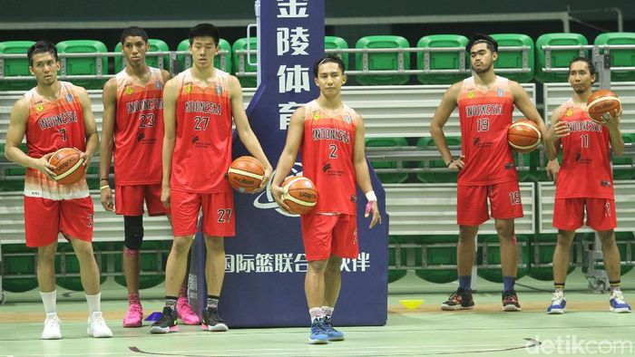 Timnas basket Indonesia berlatih menjelang SEA Games 2019 Filipina. (Rifkianto Nugroho/detikSport)