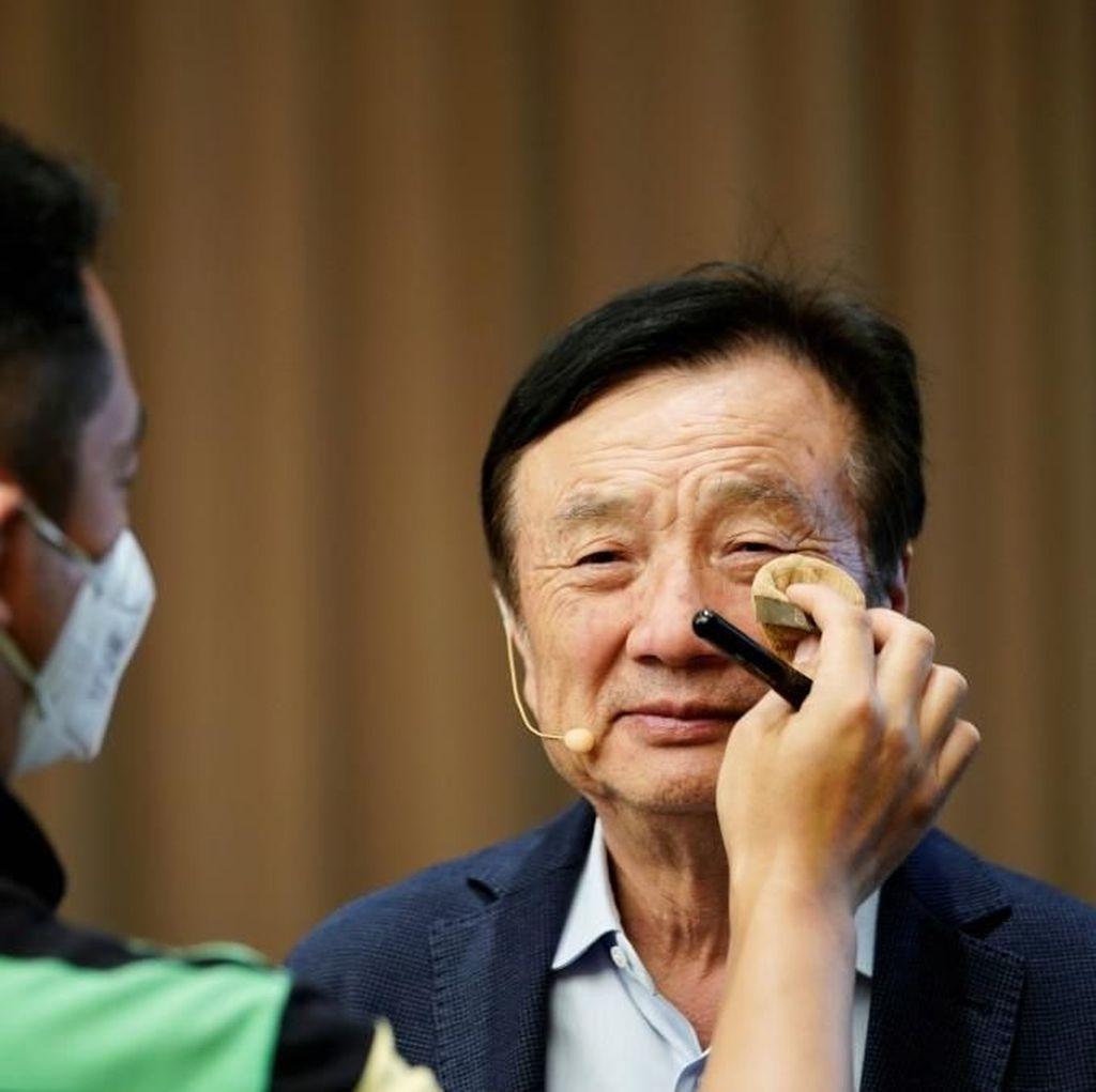 Tawa Lebar Pendiri Huawei di Tengah Kesulitan