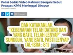 Polisi Selidiki Isi Ceramahnya, Rahmat Baequni Posting Kebenaran di IG