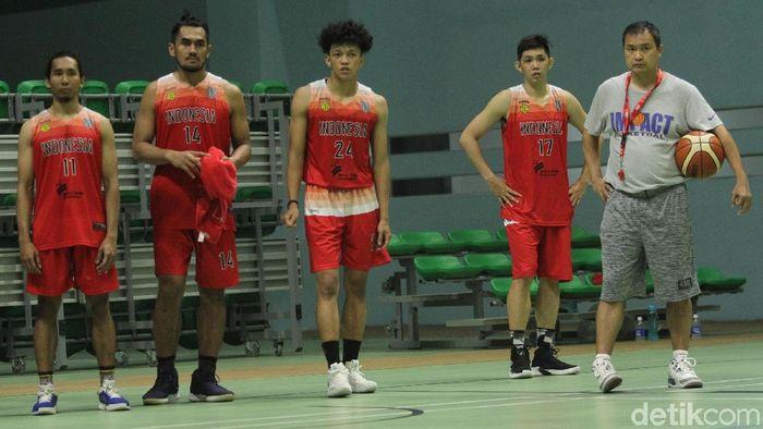 Timnas basket Indonesia ikut IBL. (Foto: Rifkianto Nugroho/detikSport)