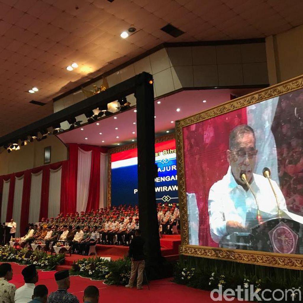Halalbihalal di Mabes TNI, Menhan Prihatin Ada Prajurit Tak Setuju Pancasila
