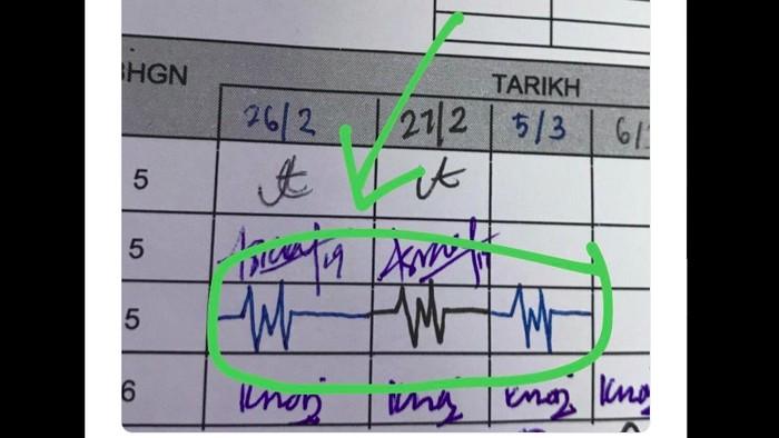 Tanda tangan ini disebut seperti rekaman detak jantung. (Foto: Tangkapan layar Twitter)