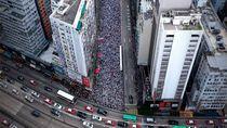 Potret Demonstran Hong Kong yang Tertib dan Jaga Kebersihan