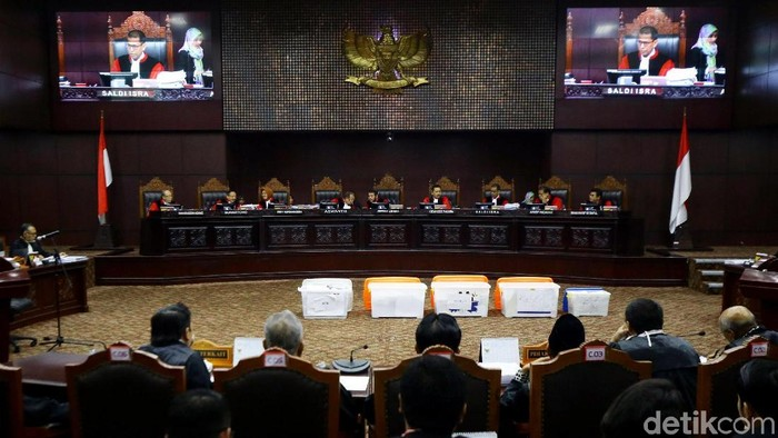 Sidang Mahkamah Konstitusi (Grandyos Zafna/detikcom)