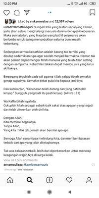 Sebut KPPS Diracun Ditangani Polisi, Rahmat Baequni Posting Kebenaran di IG