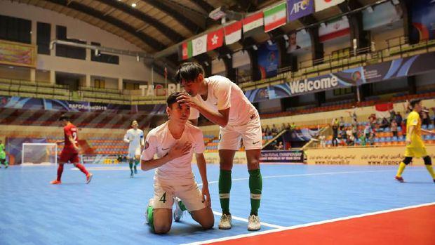 Timnas Futsal Indonesia U-20 tertinggal 0-1 dari Afghanistan di babak pertama. (