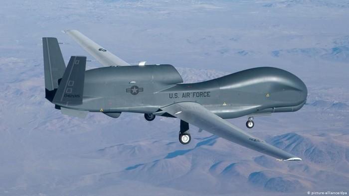 Drone AS yang ditembak jatuh oleh Iran. Foto: DW (News)