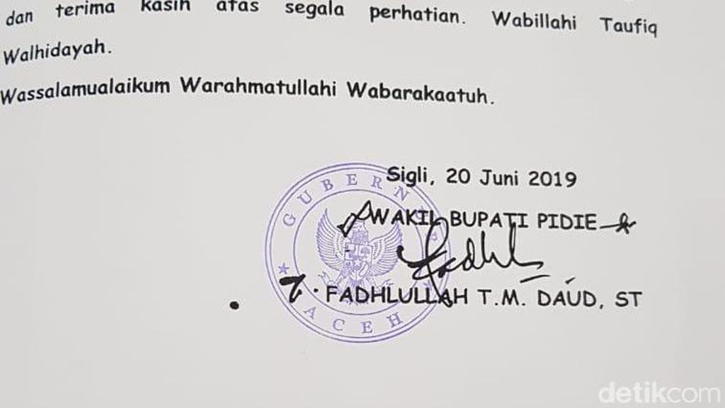 Misteri Stempel Gubernur Aceh di LKPJ Wabup Pidie