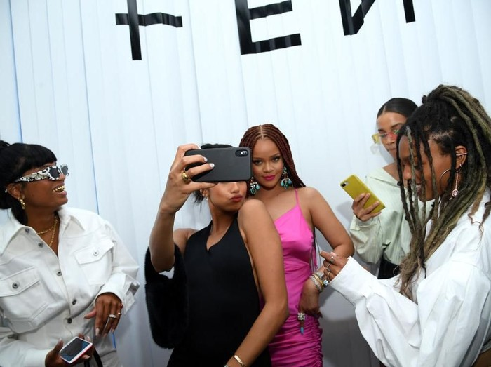 NEW YORK, NEW YORK - JUNE 18: Rihanna and Selah Marley attend the FENTY x Webster Pop-up Cocktail at The Webster on June 18, 2019 in New York City. (Photo by Dimitrios Kambouris/Getty Images for Fenty)