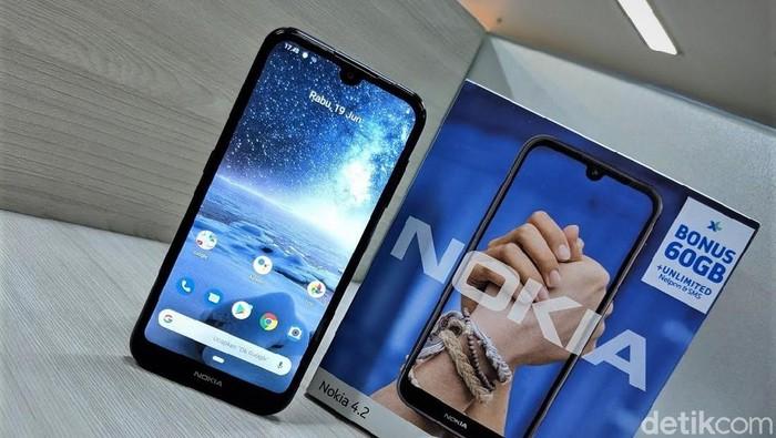 Nokia 4.2 Foto: Adi Fida Rahman/detikINET