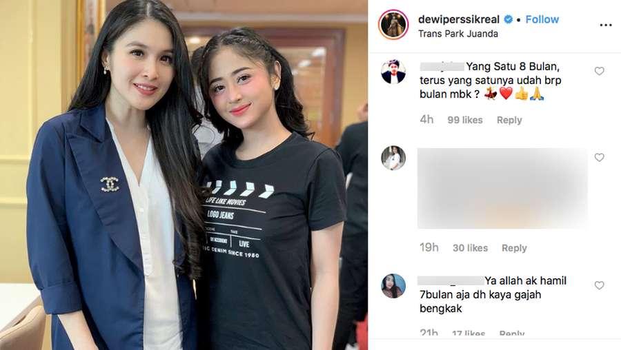 Foto Bareng, Ini Beda Komentar di IG Sandra Dewi dan Dewi Perssik