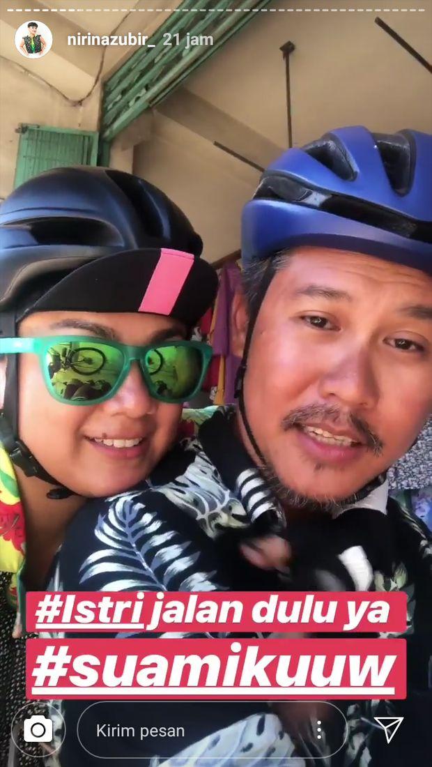 Sepedaan 1.200 Km Jakarta-Bali, Nirina Zubir Sedih Suami Tak Sampai Finish