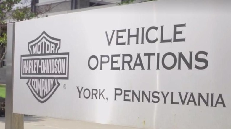 Pabrik HD di York (Screenchot Harley Davidson)