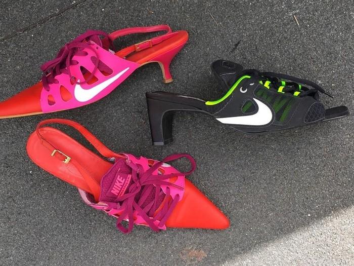 Sneakers Nike didaur ulang jadi heels. (Foto: Instagram/@ancutasarca)